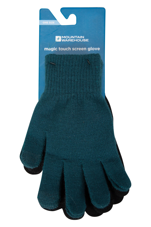 Magic Touch Screen Womens Gloves - Green