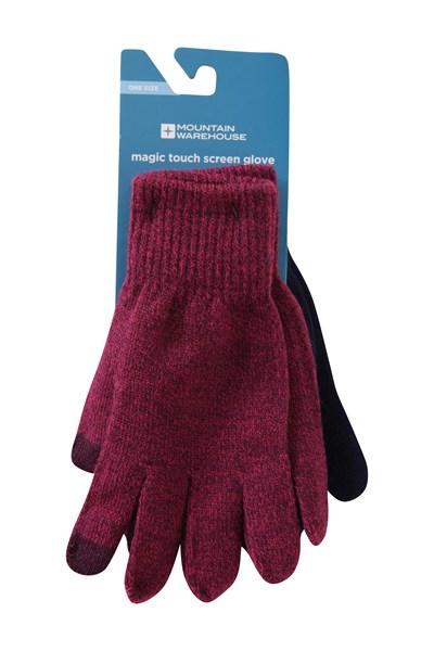 Magic Touch Screen Womens Gloves - Navy