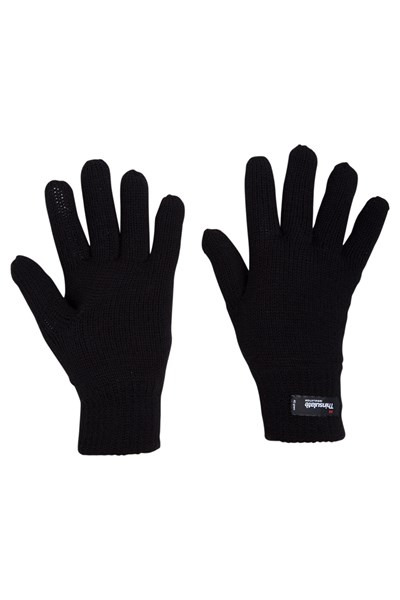 Thinsulate Womens Knitted Gloves - Black