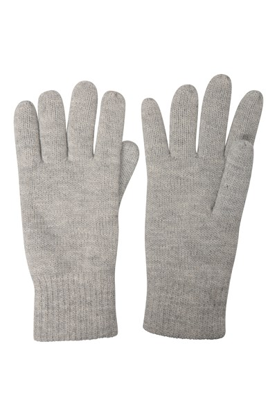 Thinsulate Womens Knitted Gloves - Grey