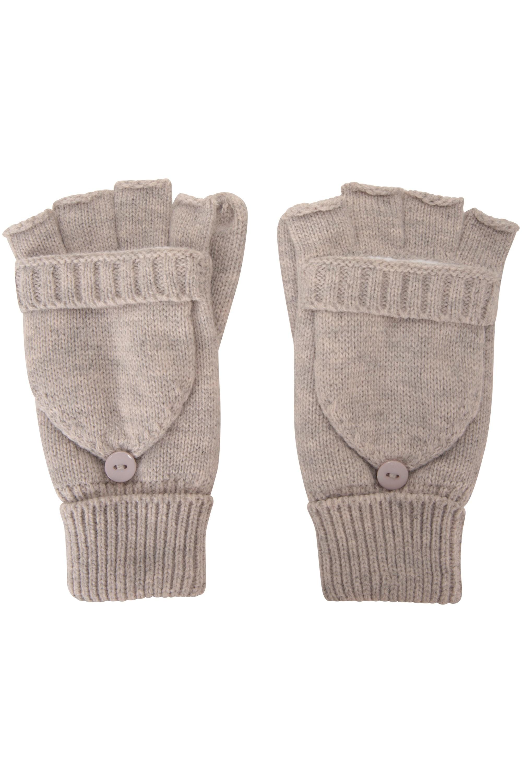 Mountain Warehouse Fingerless Fleece Kids Mitten Warm Winter Gloves