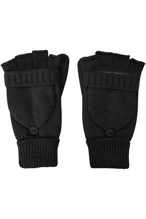 Fingerless Knitted Womens Mitten