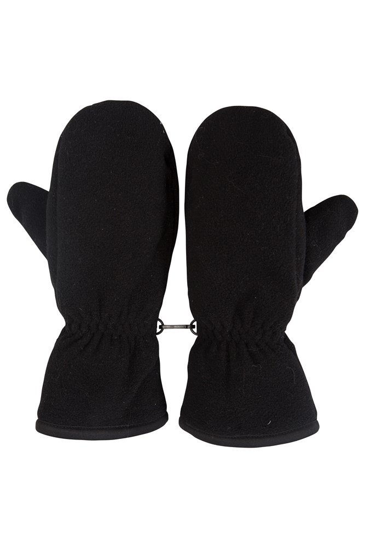 Fleece Womens Mitten - Black