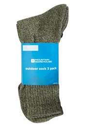 Mens Outdoor Socks - 3 Pk