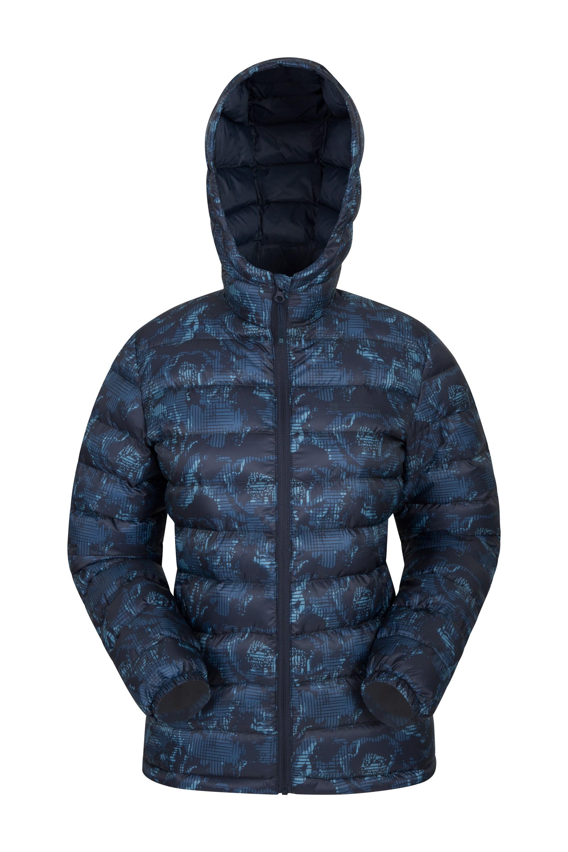 Seasons Womens Printed Padded Jacket - Blue