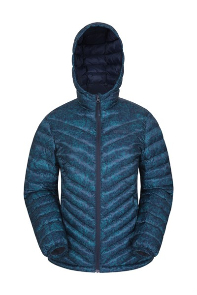 Seasons Womens Printed Padded Jacket - Navy