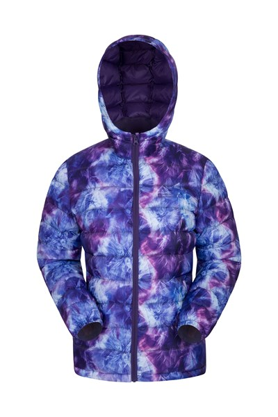 Seasons Womens Printed Padded Jacket - Purple
