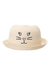 3D Cat Kids Straw Hat