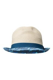 Printed Brim Kids Straw Hat