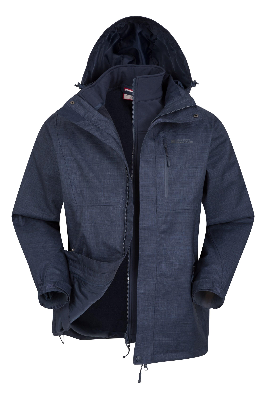 024805 nav bracken 3 in 1 melange waterproof jacket men ss18 05