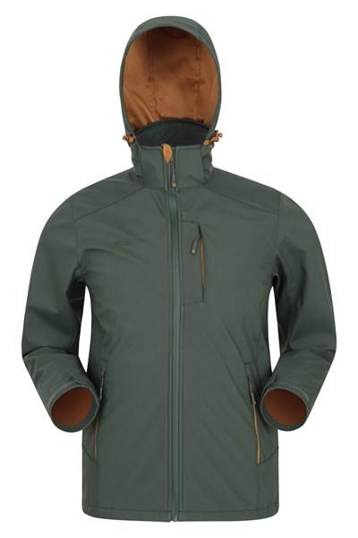 Helix Lightweight Mens Showerproof Softshell - Green