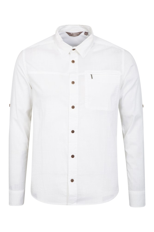 Chemise à Manches Longues hommes Coconut - Blanc