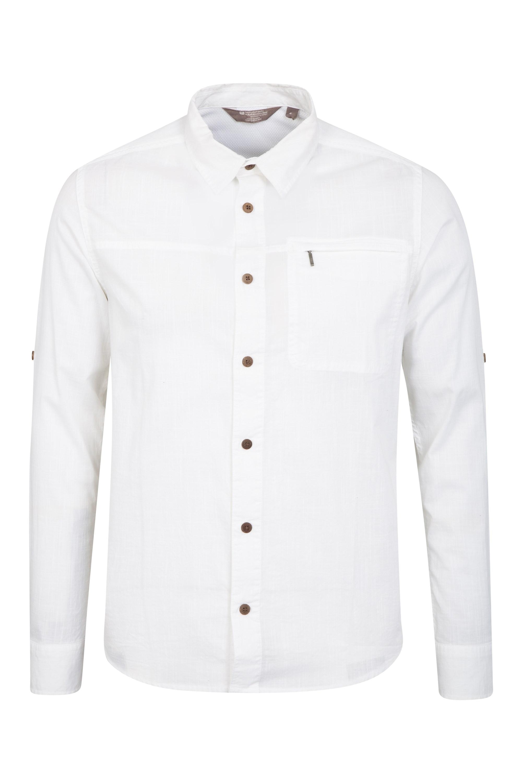 Coconut Mens Cotton Shirt - White