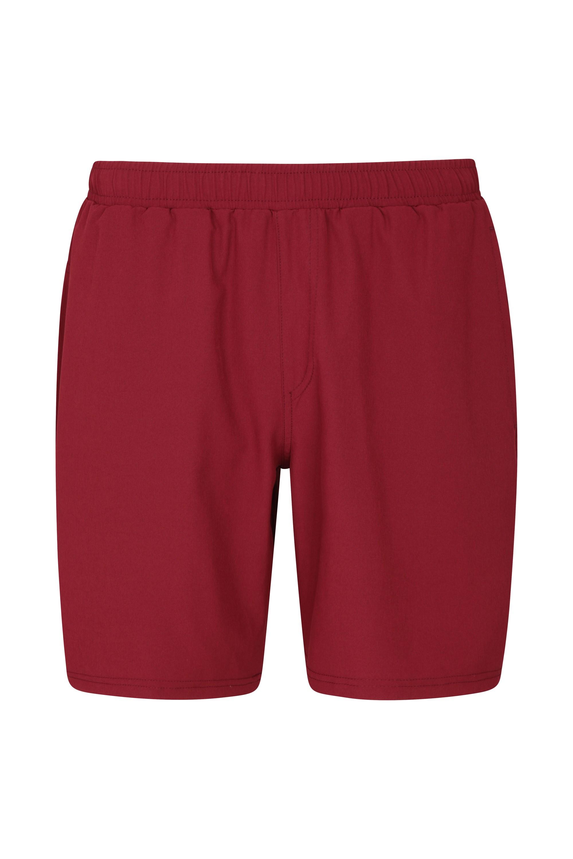 Hurdle Mens Running Shorts - Dark Red