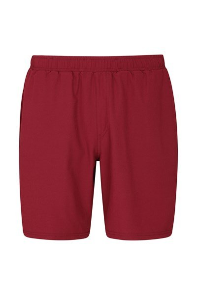 Hurdle Mens Running Shorts - Dark Red