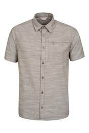 Coconut Textured Mens Short Sleeved Shirt