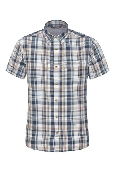 Holiday Mens Cotton Shirt - Beige
