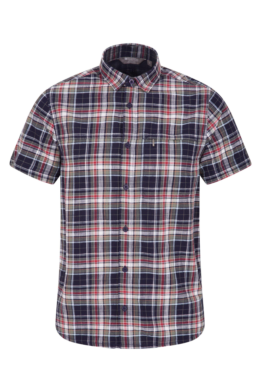 Holiday Mens Cotton Shirt - Burgundy