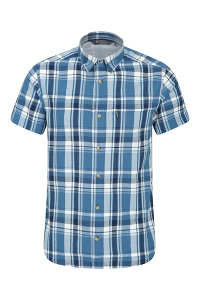 Holiday Mens Cotton Shirt - Dark Blue