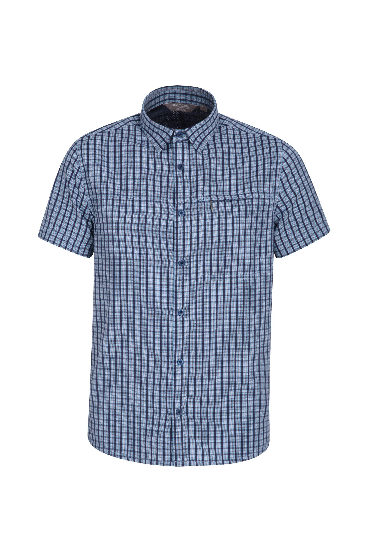 Holiday Mens Cotton Shirt - Blue