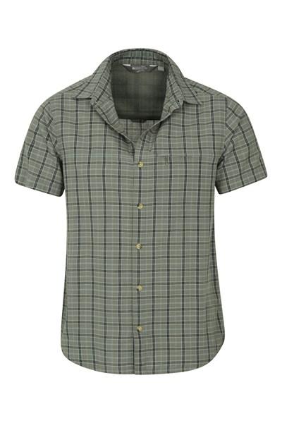 Holiday Mens Cotton Shirt - Green