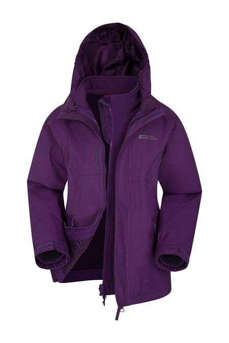 024845 BRACKEN KIDS WATERPROOF 3 IN 1 JACKET