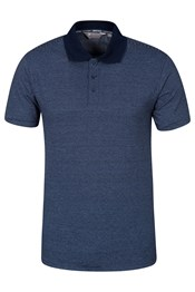 Plymouth Indigo Striped Mens Polo