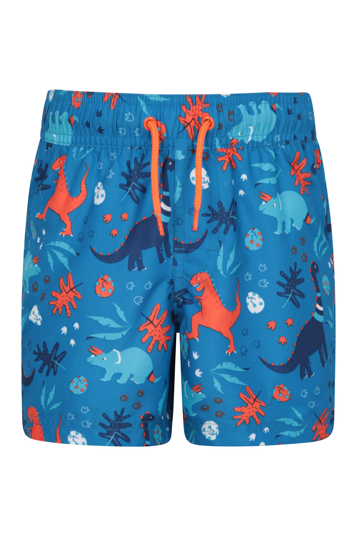 Patterned Kids Boardshorts - Orange