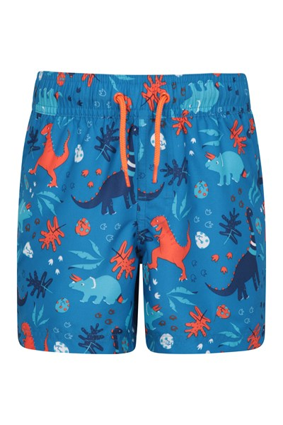 Patterned Kids Boardshorts - Orange