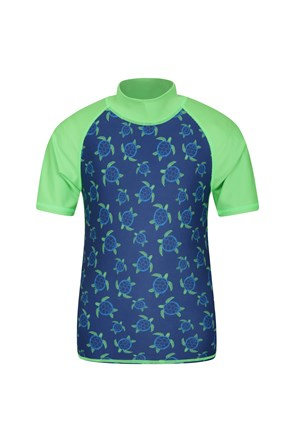 Short Sleeved Printed Kids Rash Vest