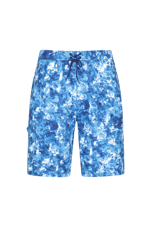 Short de Bain Imprimé Hommes Ocean - Bleu Foncé