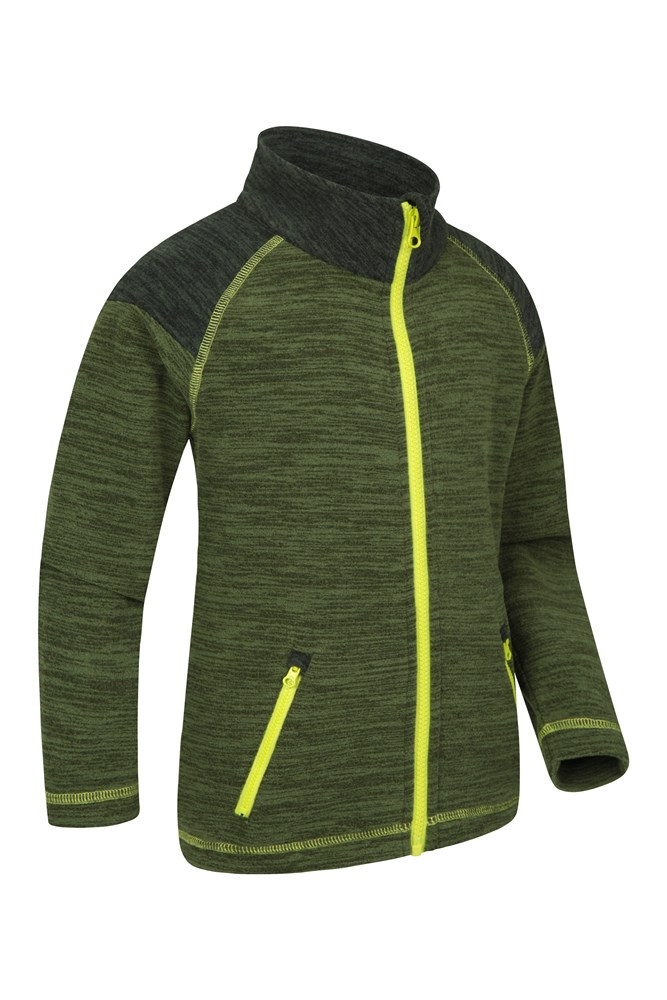 Quick Drying Pullover Mountain Warehouse Snowdonia Kids Fleece Jacket Antipill Top Lightweight Soft Touch Sweater for Winter Practical Travelling