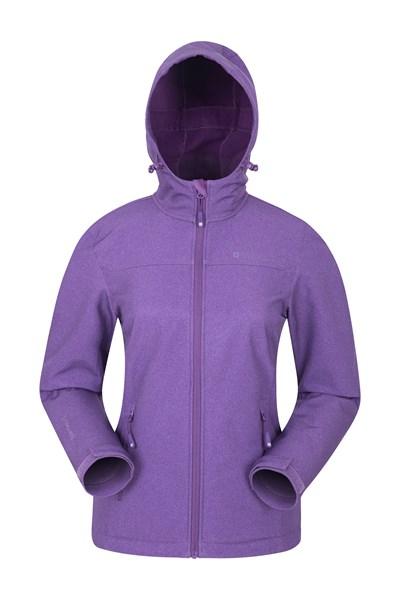 Exodus Womens Water Resistant Softshell - Purple