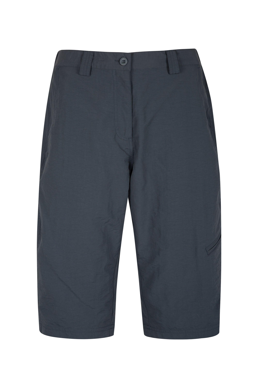 Explore Womens Long Shorts - Grey
