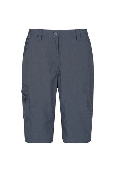 Explore Womens Long Shorts - Grey