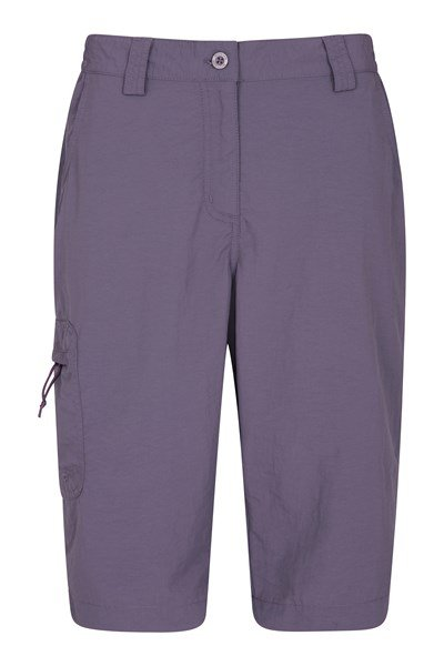 Explore Womens Long Shorts - Purple
