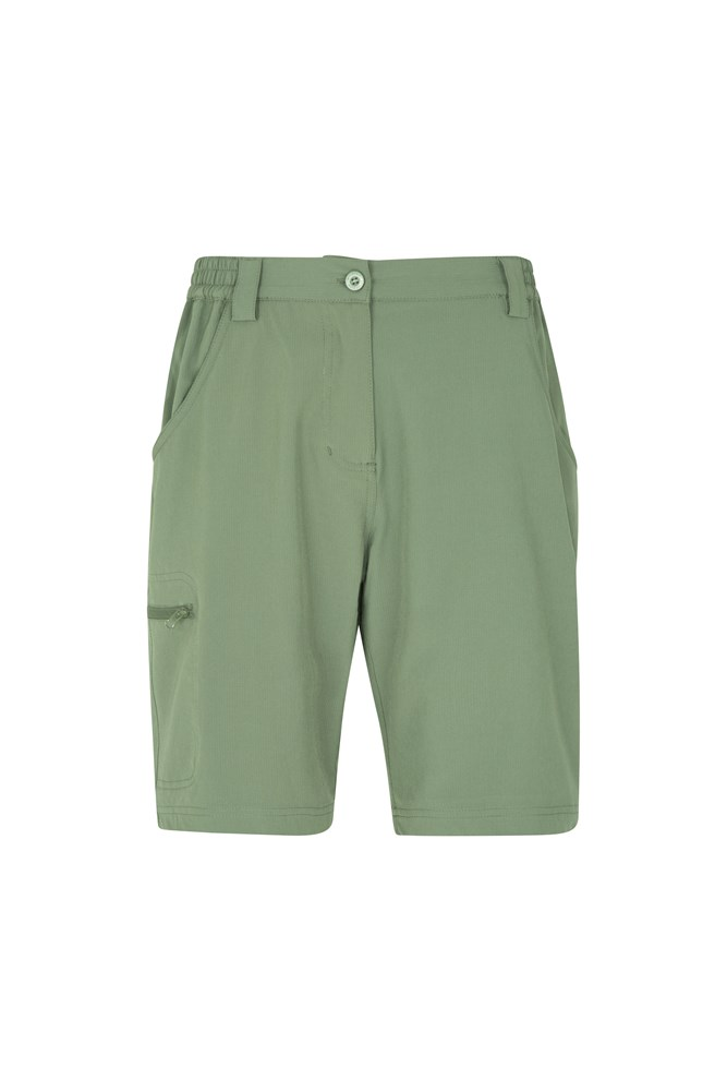 Travelling Stretch Anti-Mosquito Womens Shorts - Green