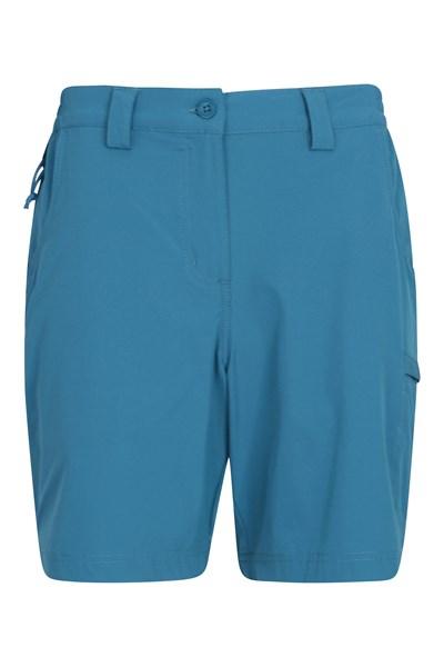 Trek Stretch Womens Shorts - Blue