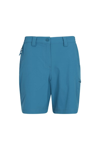 Trek Stretch Womens Shorts - Blue