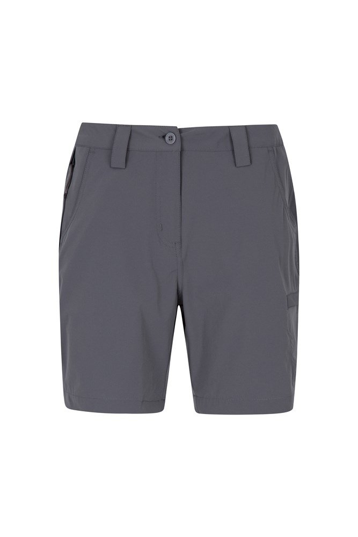 Trek Stretch Womens Shorts - Grey