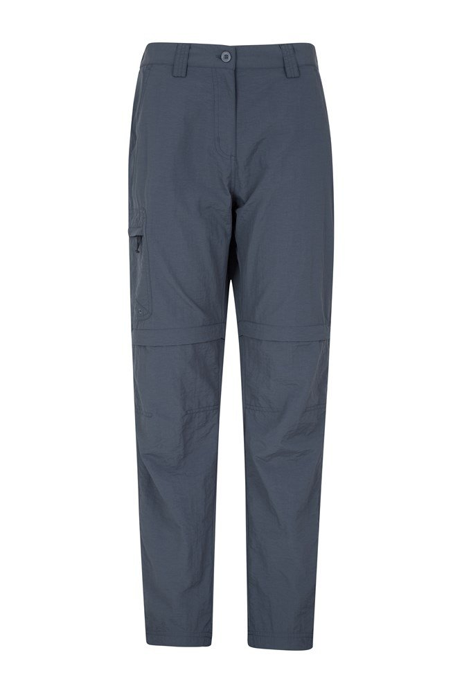 Explore Womens Convertible Trousers - Grey