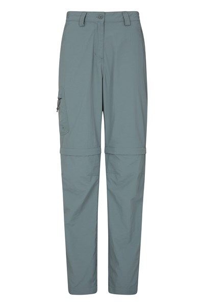 Explore Womens Convertible Trousers - Green