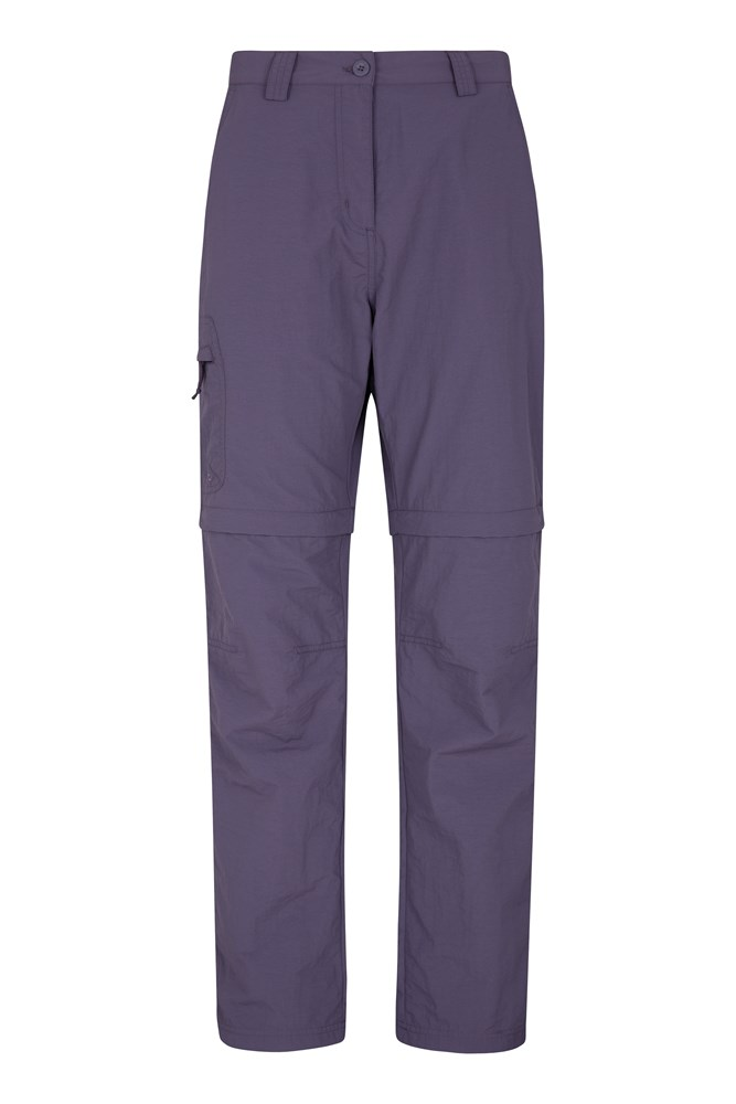 Explore Womens Convertible Trousers - Purple