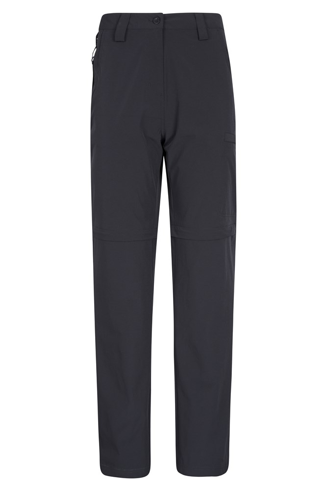 Trek Stretch Womens Convertible Trousers - Black