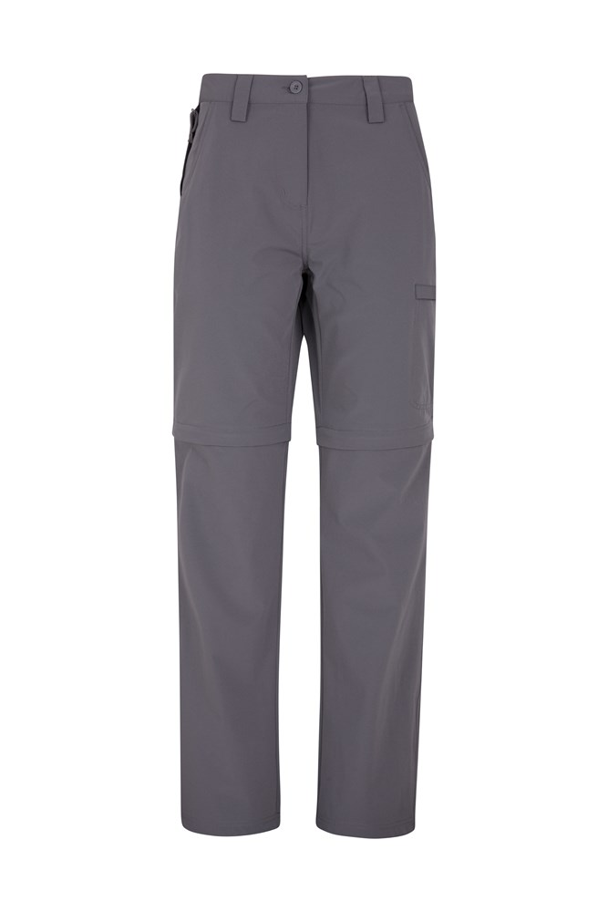 Trek Stretch Womens Convertible Trousers - Grey