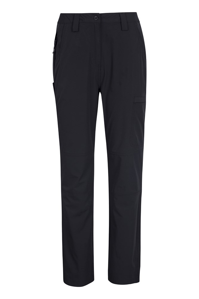 Trek Stretch Womens Trousers - Short Length - Black