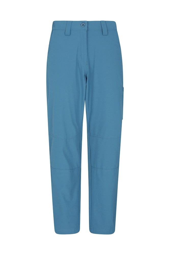 Trek Stretch Womens Trousers - Short Length - Blue