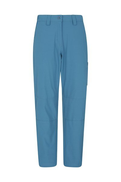 Trek Stretch Womens Trousers - Short Length - Blue