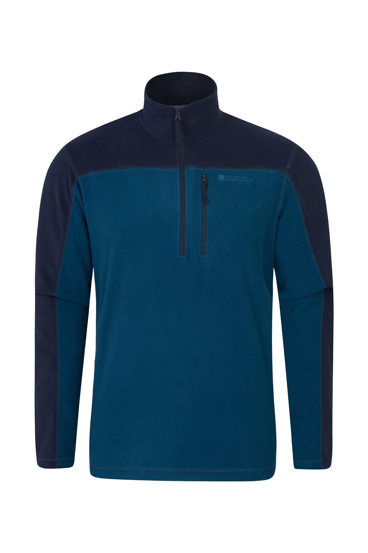 024938 blu argyle half zip fleece men aw18 1