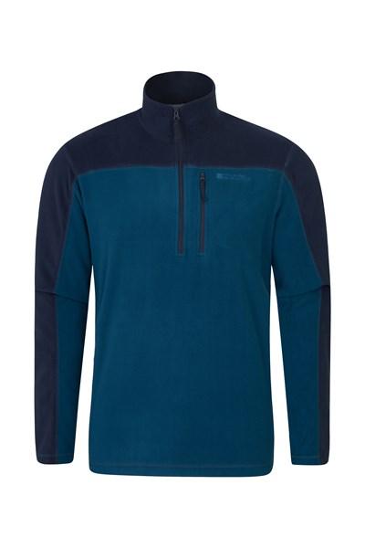 Argyle Mens Half Zip Fleece - Blue
